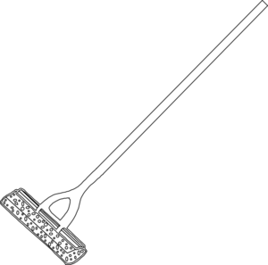 Mop clipart outline. Lineart clip art at