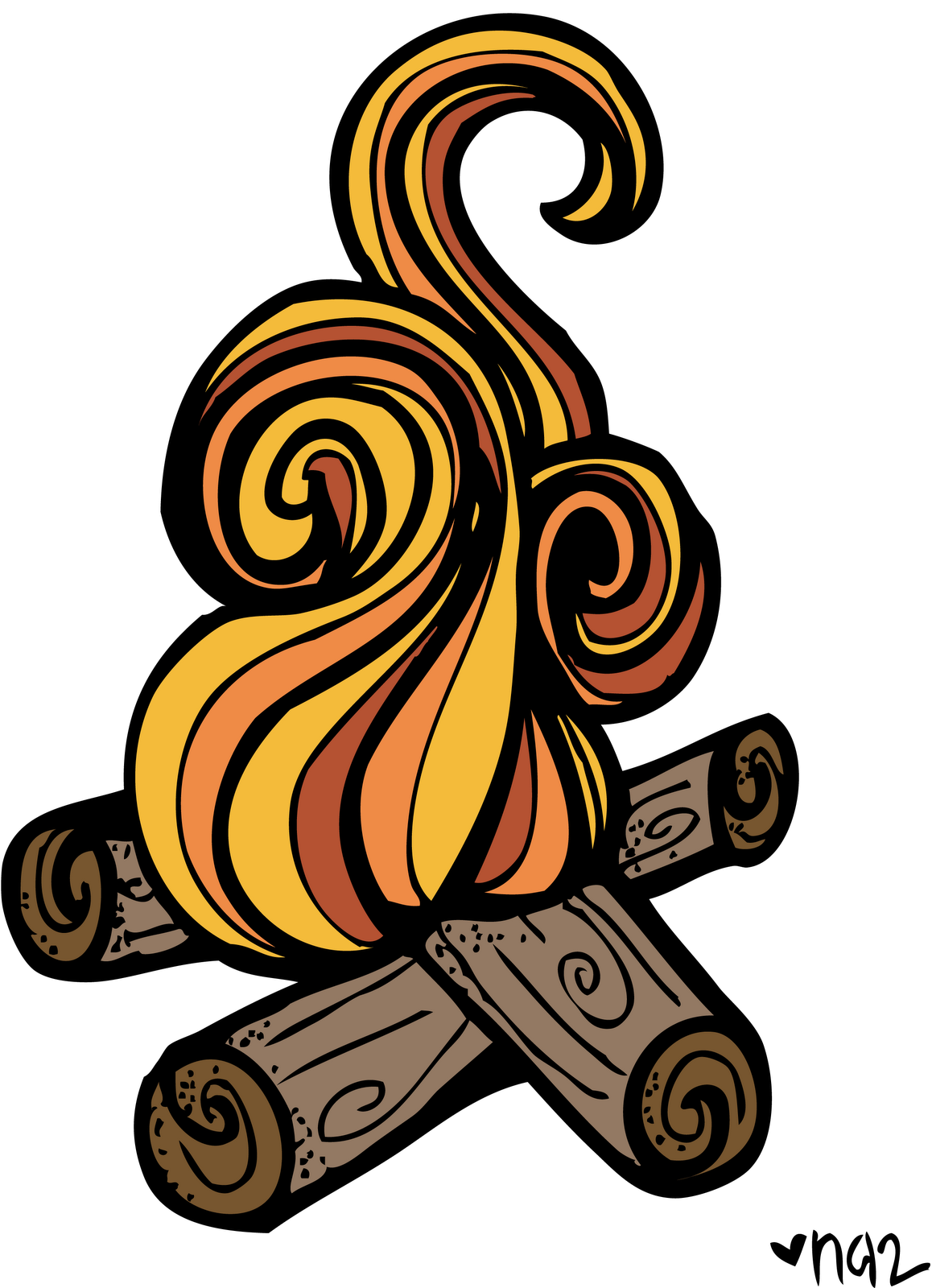Campfire clipart. Free s mores download