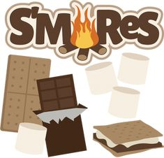 Mores clipart bonfire. Campfire cupcakes s with