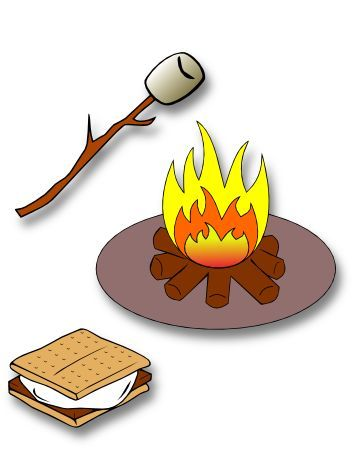Mores clipart bonfire. The lady wolf campfire