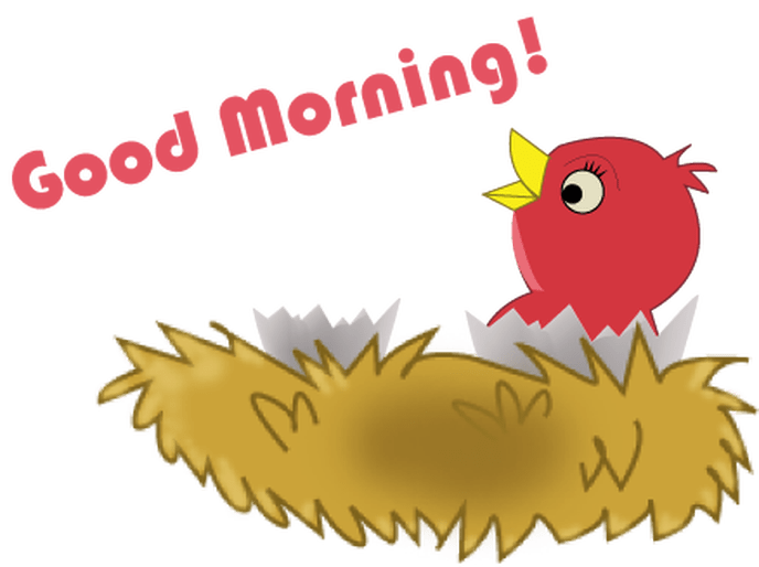 Morning clipart. Good gif with free