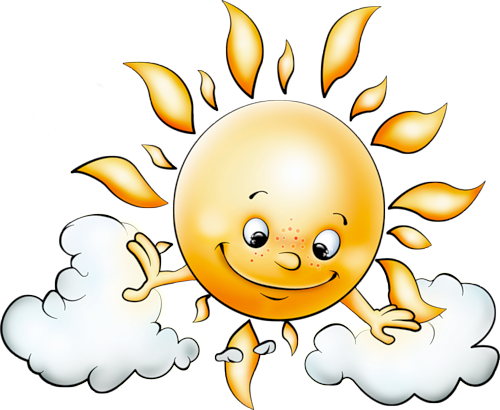 Sun cartoon png. With clouds free picture