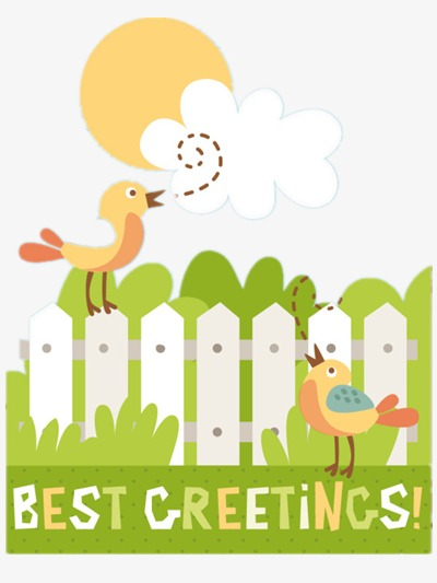 Morning clipart early morning. Birds singing fence png
