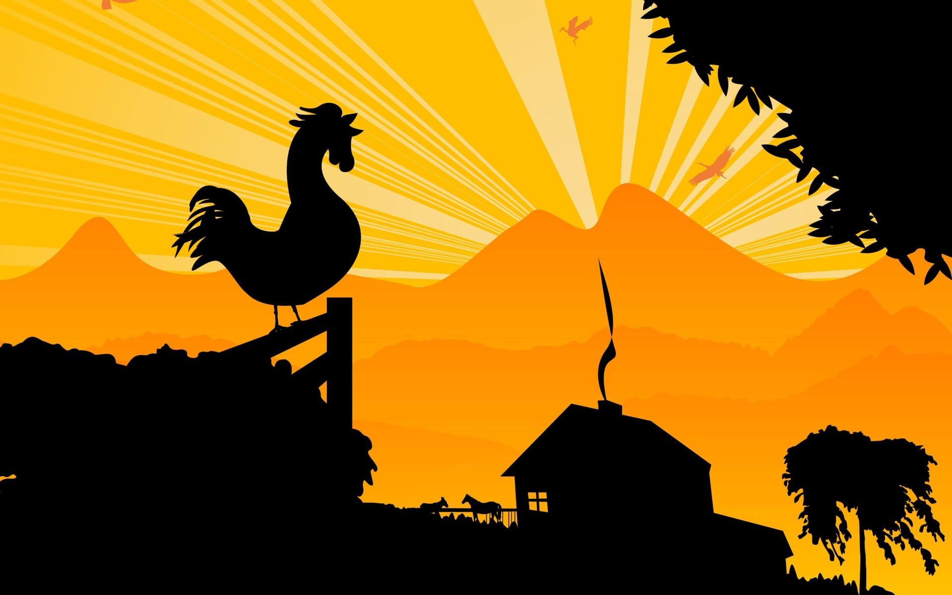 Morning clipart early morning. Rooster on farm clip