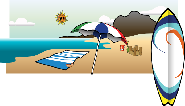 Morning drawing beach. Drawings umbrella clip art