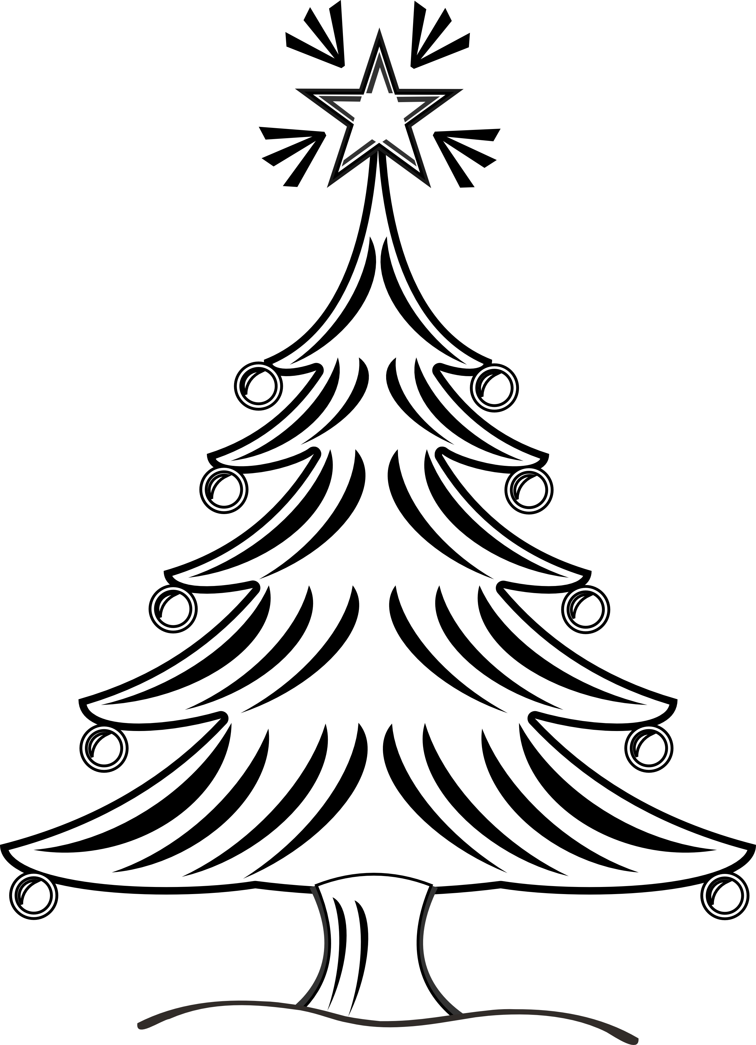 Pine drawing hipster. Christmas tree ideas for