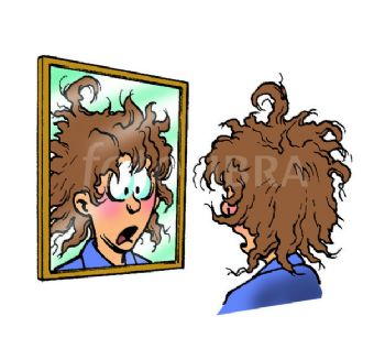 Bedhair. Morning hair clipart