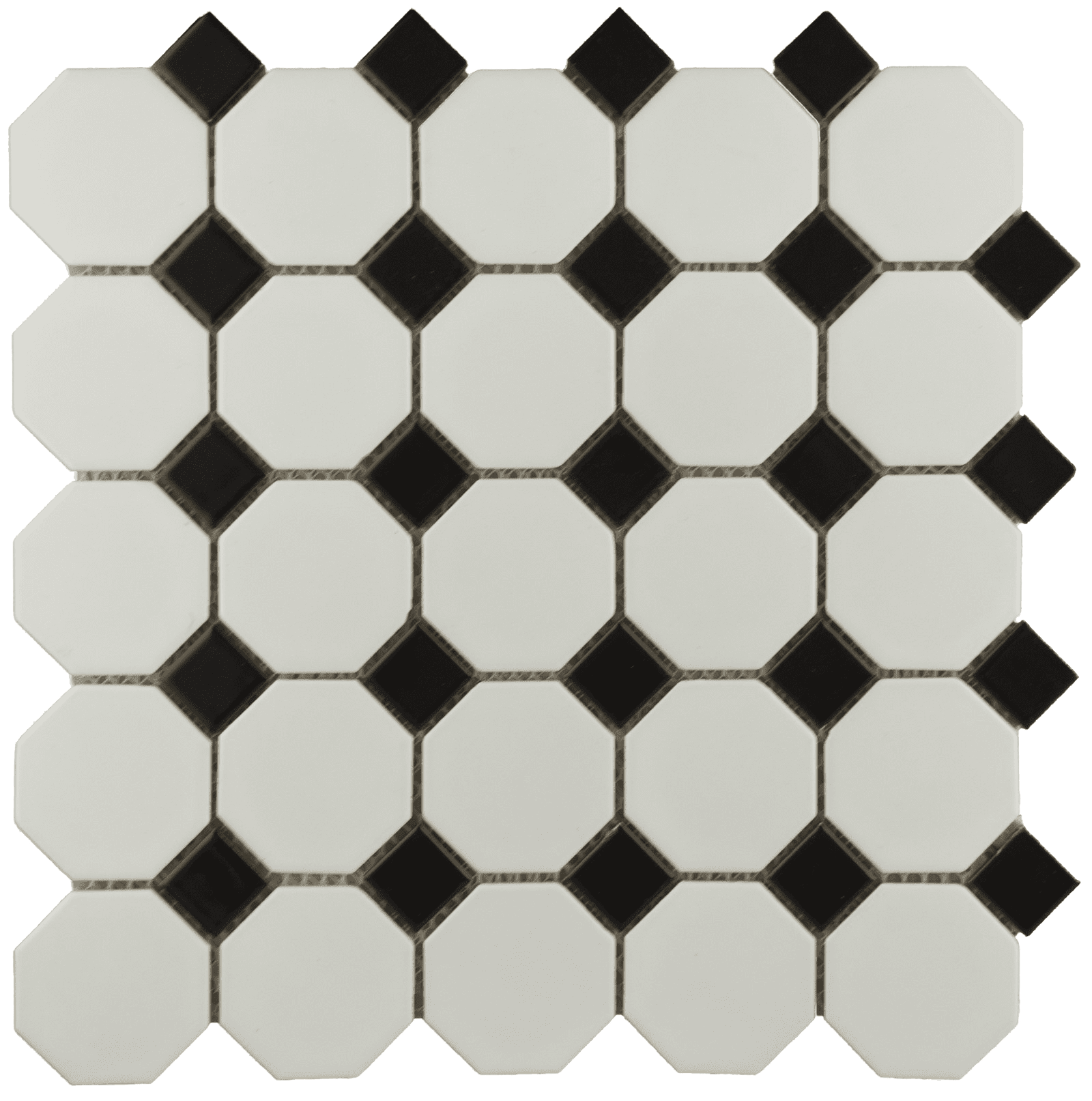 Mosaic floor png. Bally octagon black white