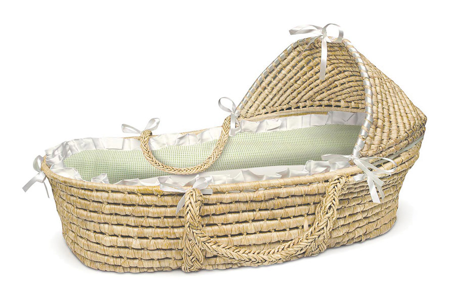 Moses clipart basket. New baby bassinet cradle