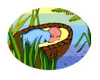 Moses clipart basket. Baby