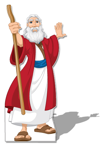 Moses clipart bible scene. Stand up creative for