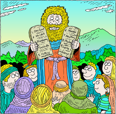 Moses clipart deuteronomy. Image and the commandments