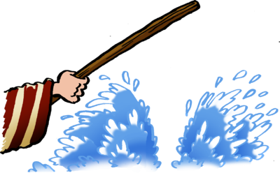 Moses clipart red sea
