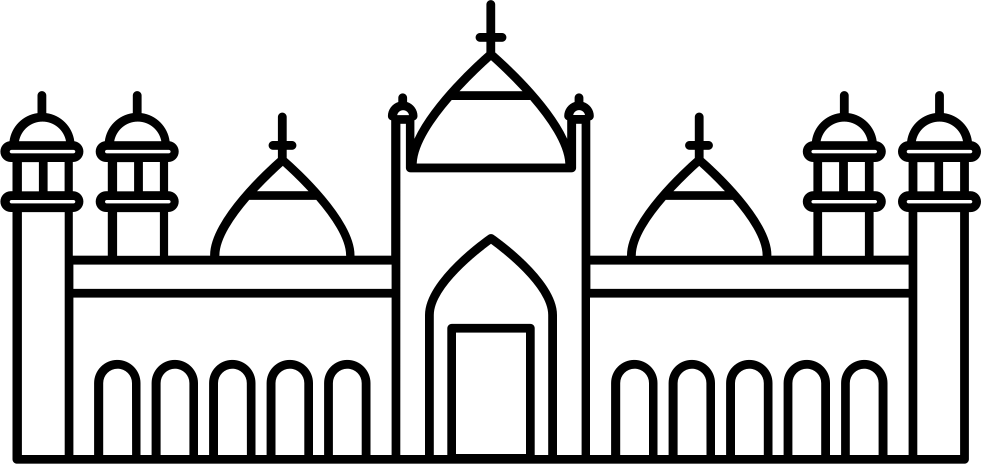 Mosque clipart extended family. Badshahi svg png icon
