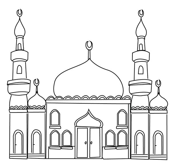 Mosque clipart outline. The best masjid style
