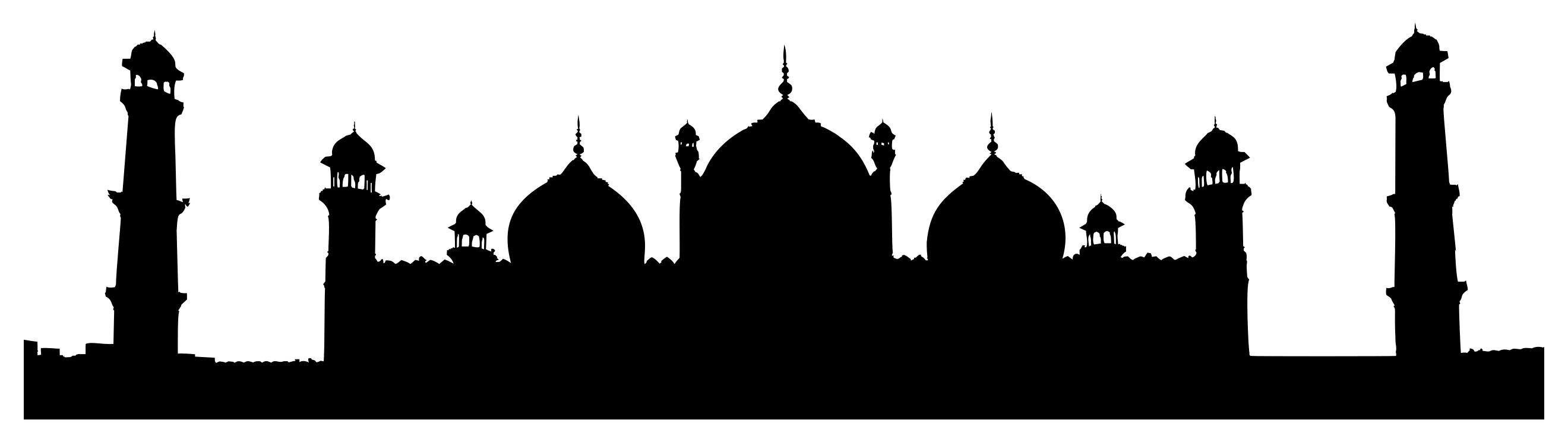 Mosque clipart outline. Silhouette at getdrawings com