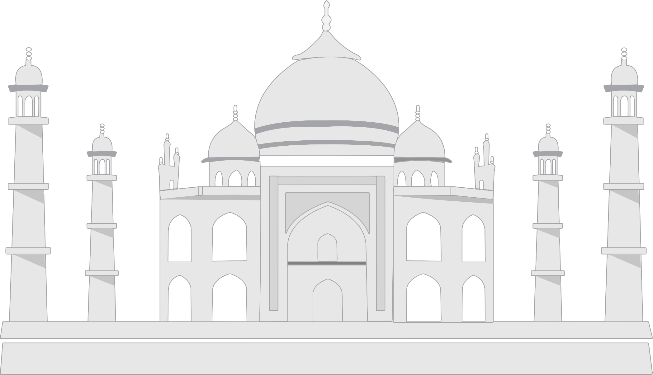Mosque clipart sketch. Masjid drawing animation frames