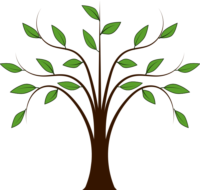 Vector sketches tree. Free whispy graphic available