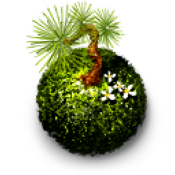 Moss vector transparent. Kokedama ball icons free