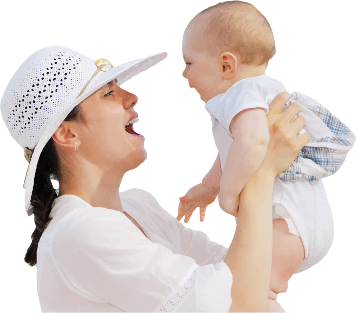 Mother and children png. Baby having fun transparentpng
