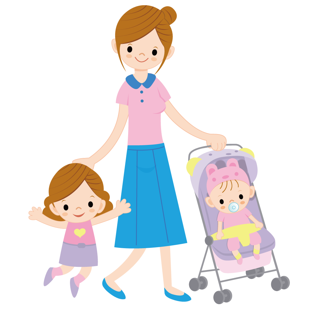Mother and children png. Child cartoon illustration with
