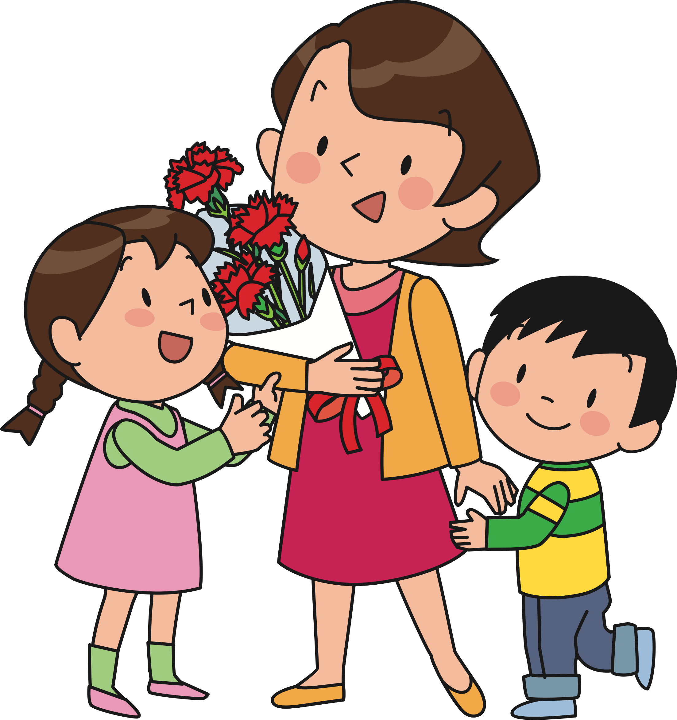 Mother and children png. Icons free downloads this