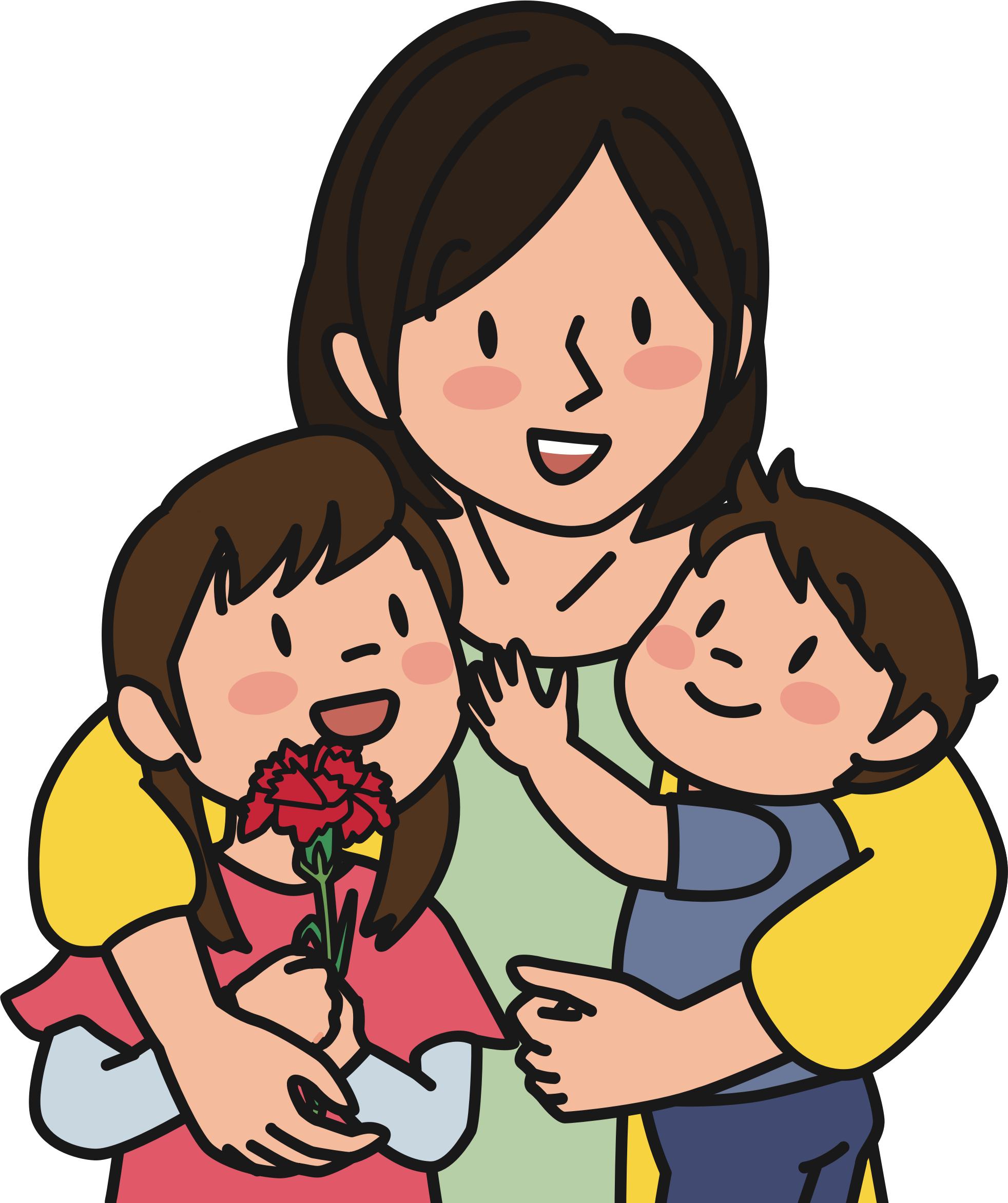 Mother child png. And children icons free