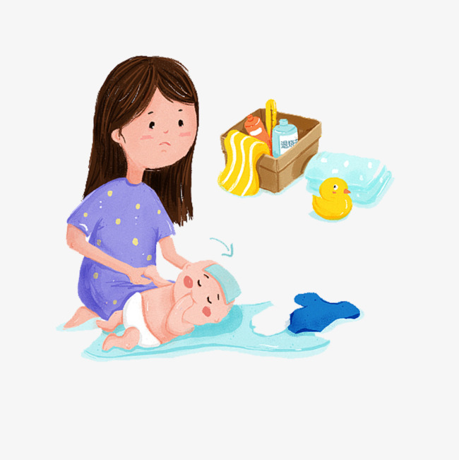 Sick illustration png image. Mother clipart baby care banner freeuse library