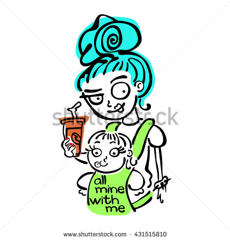 Young baby sling stock. Mother clipart cool mom clip art free download