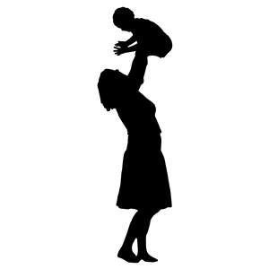 Mother clipart silhouette. And baby clip art jpg library stock