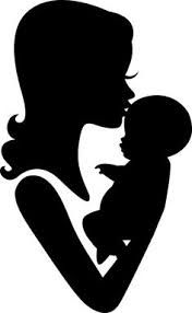 Mother clipart silhouette. Encouragement quotes and sayings