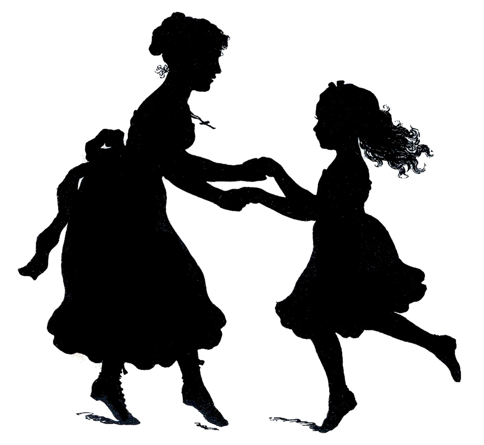 Mother clipart silhouette. Vector image downloads s jpg library stock