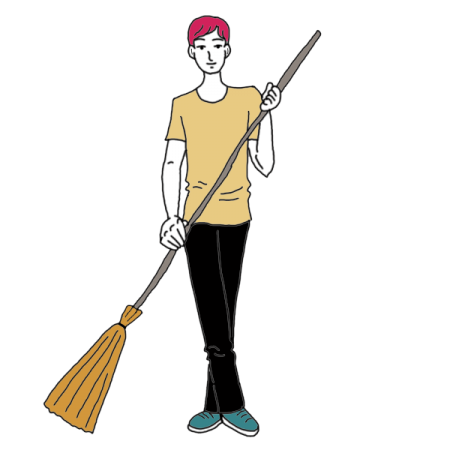 Mother clipart sweeping. Dream dictionary interpret now
