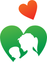 Mother vector. Child logo ai free
