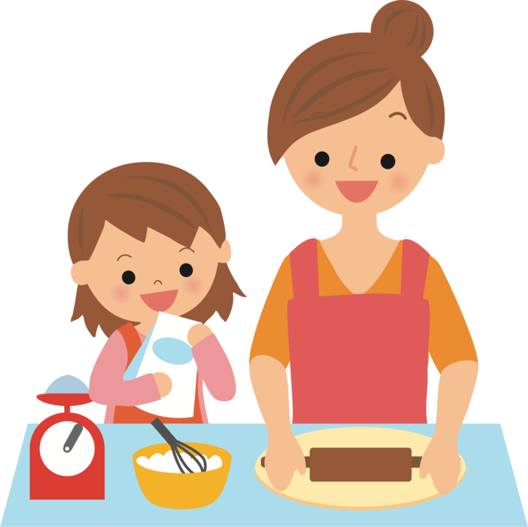 Mother vector cooking. Baking bakery food free