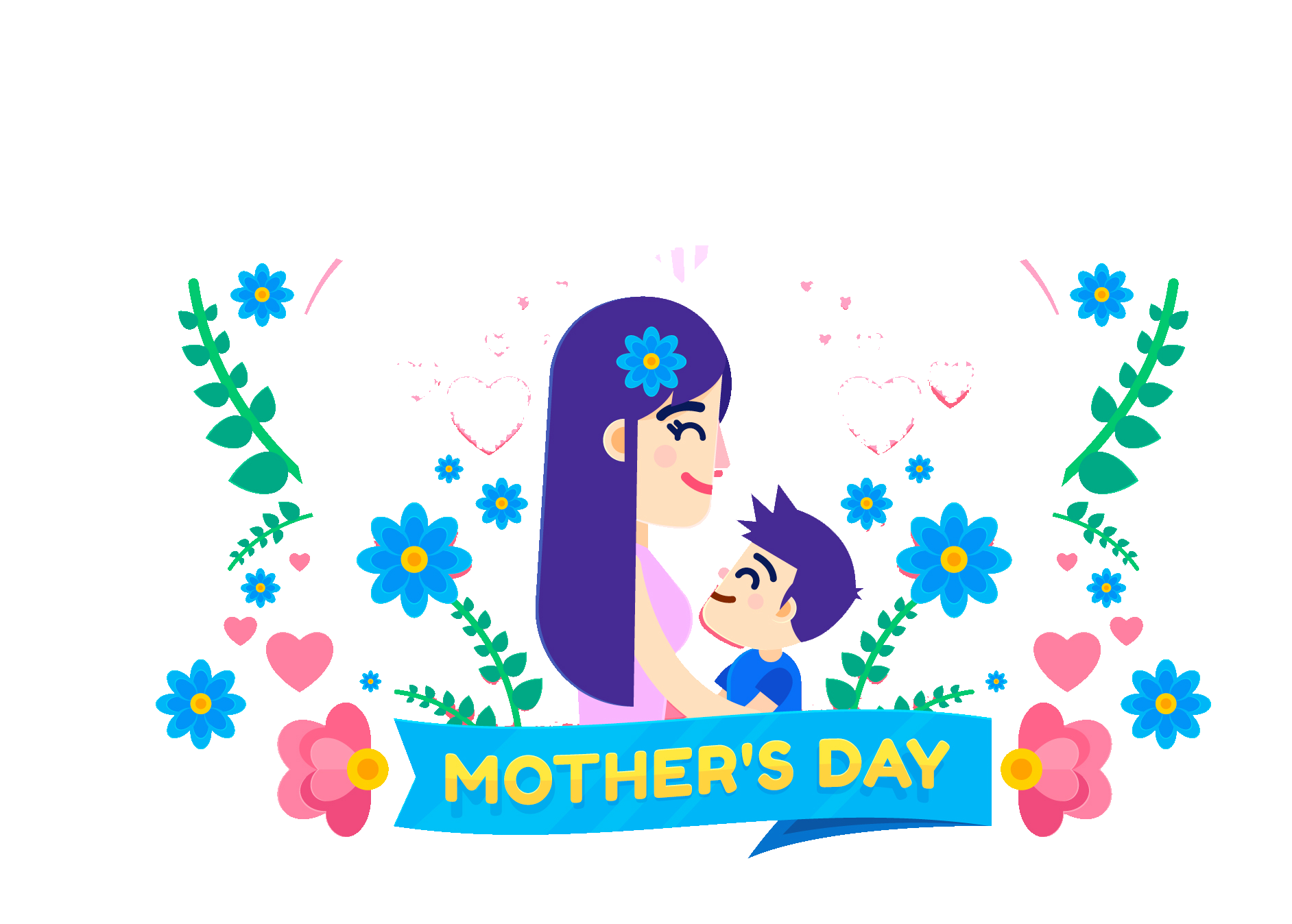 Mother vector design. Download mothers day cartoon