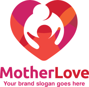 Mother vector logo. Love eps free download
