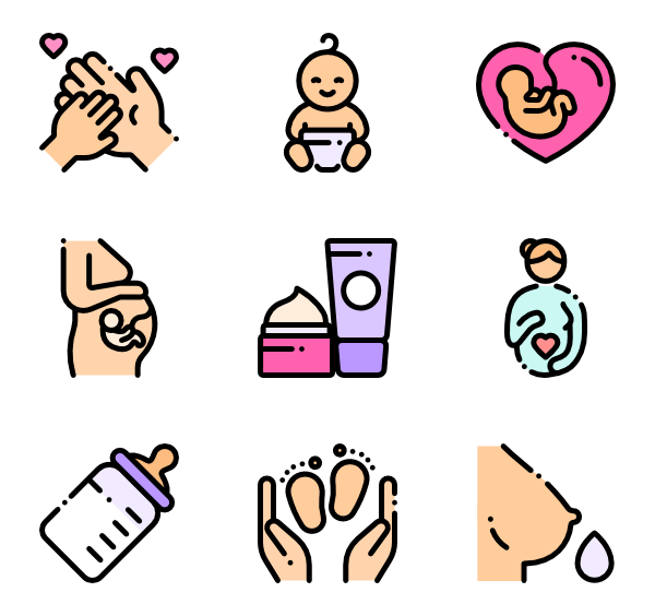 Mother vector maternity. Icons free