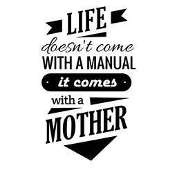 Quotes vector black and white. Purple mother s day