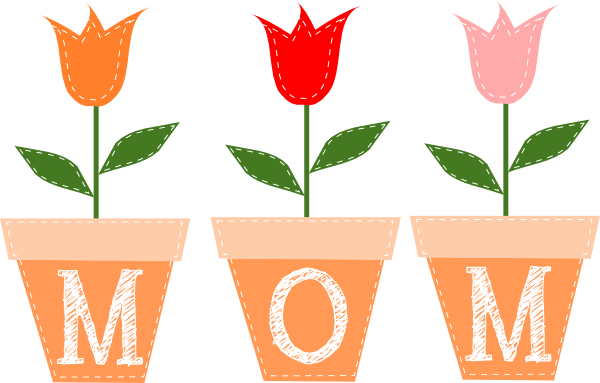 Mothers clipart. Plant day