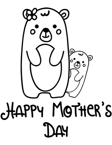 mothers clipart coloring