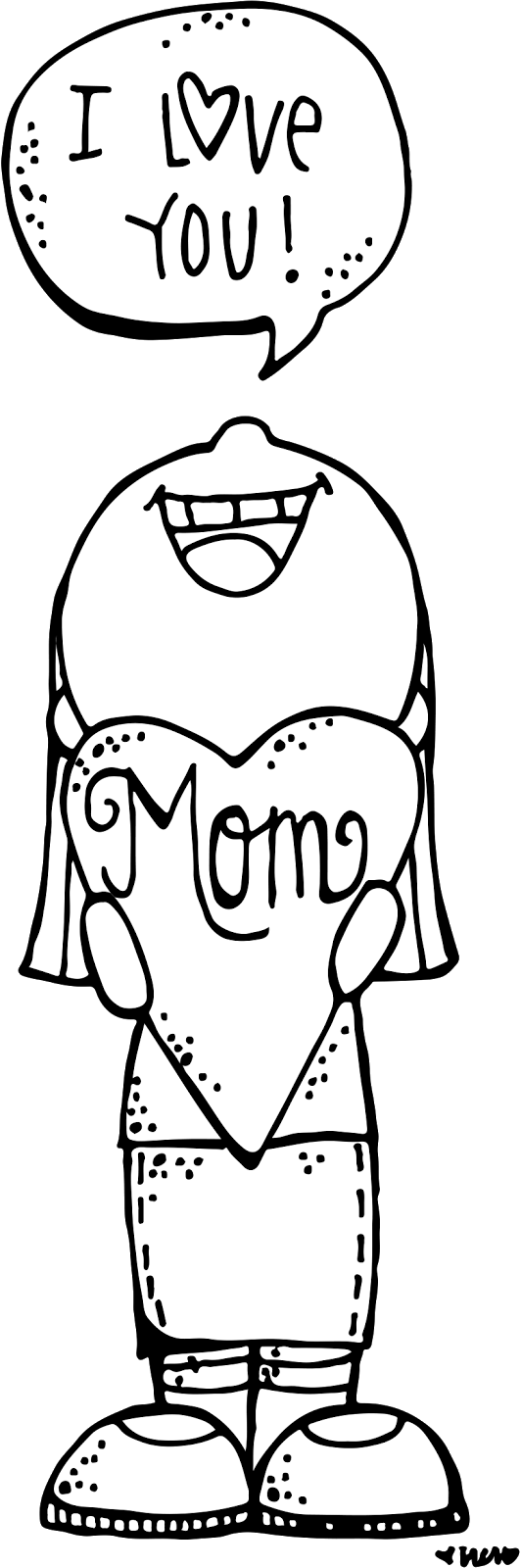 Mothers clipart coloring. Melonheadz lds illustrating mother