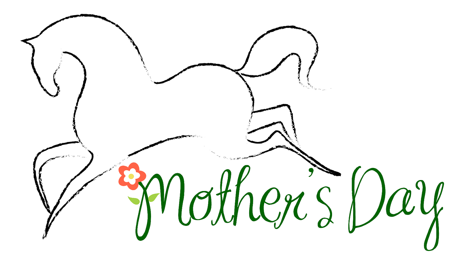 Mothers clipart coloring. Free horse themed mother