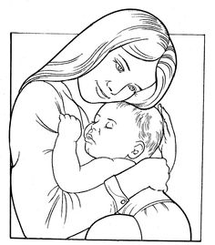 Mothers clipart coloring. Mother s day pages