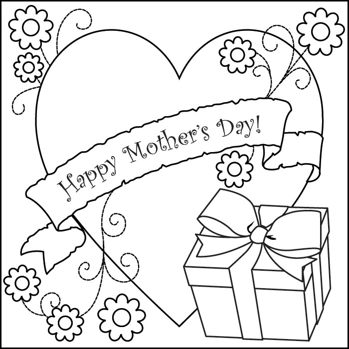 Mothers clipart coloring. Mother s day sheets