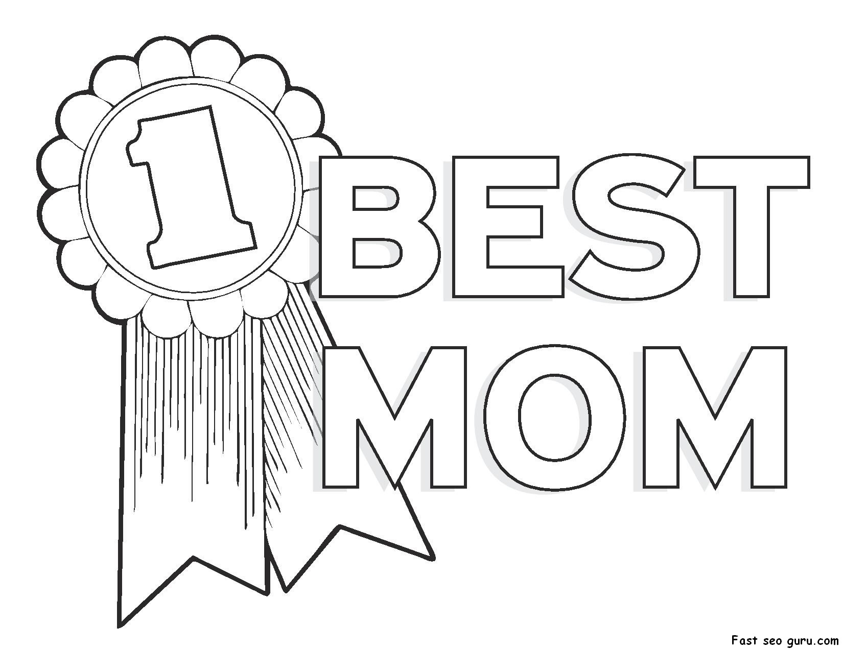 Mothers clipart coloring. Terrific day colors pictures