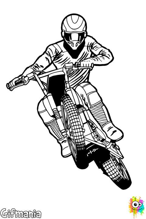 Motocross drawings pinterest and. Vector stunts dibujos black and white stock