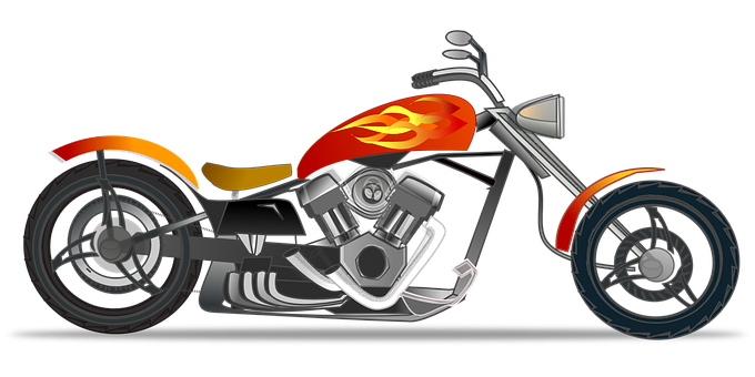 Motor vector motorcycle front. Clip black and