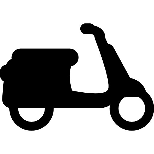 Scooter vector old. Motor icons free download