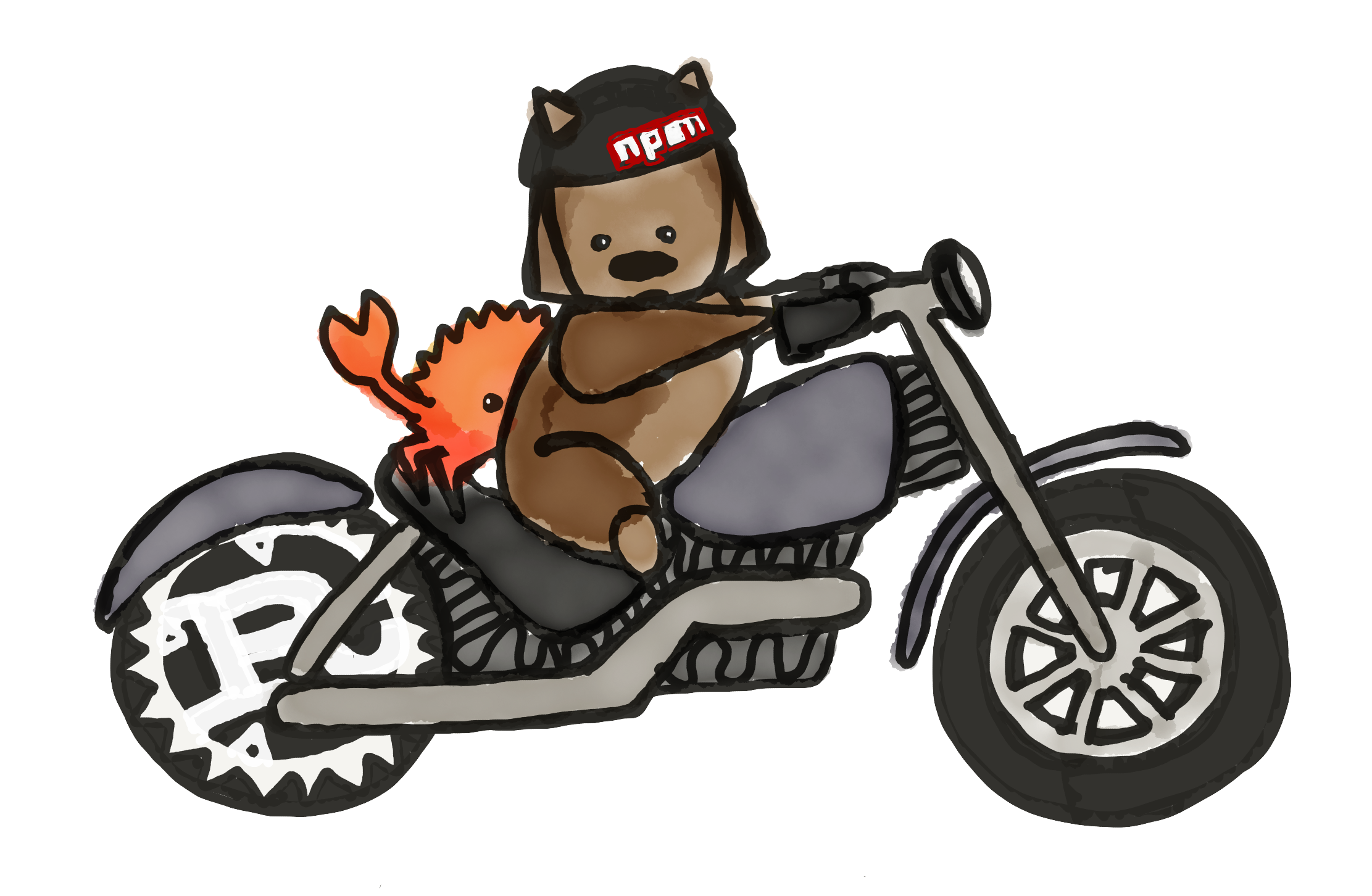 Motorcycle cartoon png. The ag deck